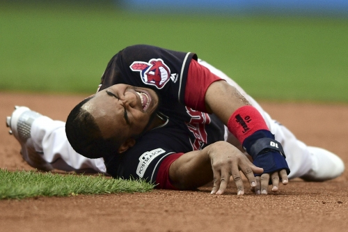 Encarnacion is in a walking boot, but may play vs. Yankees