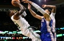 Terry Rozier leads rout of Sixers, Aron Baynes sprains left knee