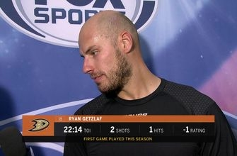 Postgame: Ryan Getzlaf on his first game of the season