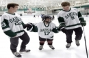 Chronically ill 4th-grader recruited by college hockey team