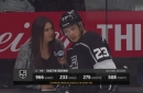 Alex Curry interviews Dustin Brown going into game against Flames