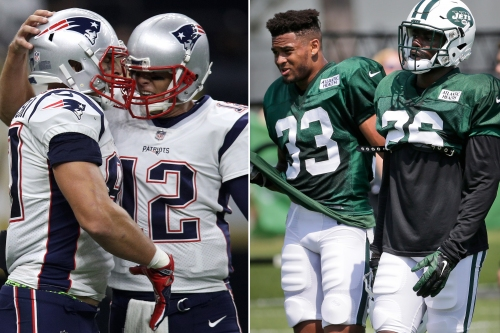 Jets rookie duo relishes chance to face Brady and Gronkowski