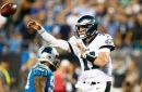 Carson Wentz throws 3 TD passes, Eagles beat Panthers 28-23