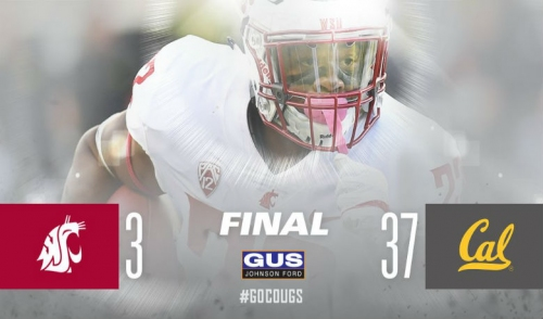 Cougars suffer first loss of season against Cal, 37-3