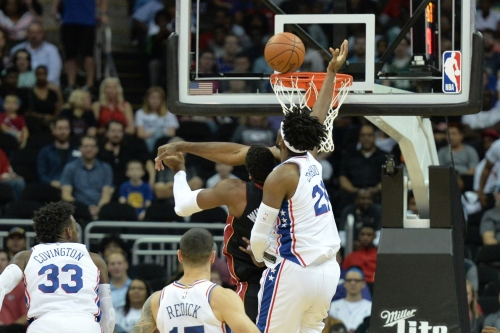 If NBA basketball was played on Twitter, Embiid and Whiteside would meet in the Finals