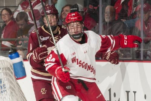 No. 10 Wisconsin men's hockey defeats No. 13 Boston College