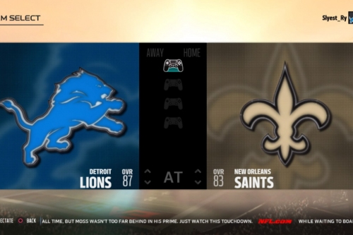 LIVE: Watch the Week 6 matchup between Lions-Saints on Madden NFL 18