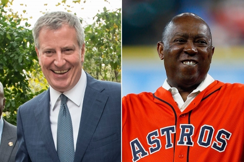 Red Sox fan de Blasio bets beer, cannoli on Yanks to win ALCS