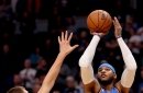 Three-headed conundrum: will Westbrook, George, or Carmelo take the last shot?