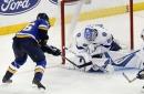 Vasilevskiy stands tall as Lightning defeat Blues 2-1