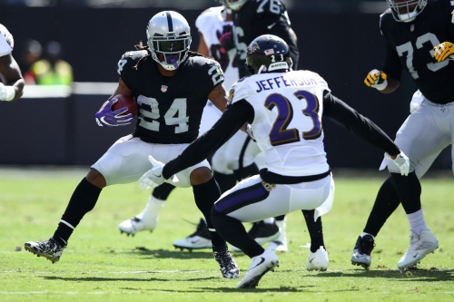 Oakland Raiders RB Marshawn Lynch could torture the Los Angeles Chargers defense today