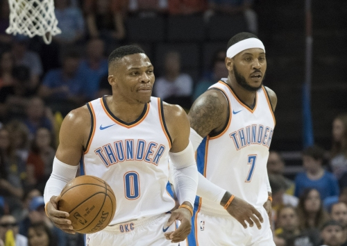Moke Hamilton of OKCThunderWire.com on how Westbrook, George, 'Melo fit, 2017-18 goals and the trio's future