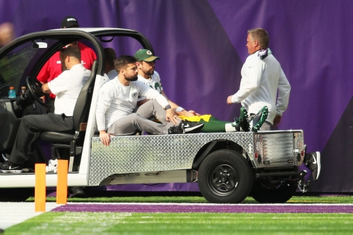 Packers announce Aaron Rodgers broke his collarbone, could miss the rest of the season