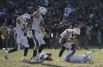 Chargers edge Raiders 17-16 with game winning field goal
