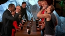 A-Rod, Mark Cuban play flip cup with Gronk brothers on Shark Tank
