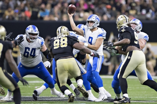 Notes: Everyone is blitzing the Lions and they can't stop it