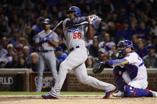 Puig playing like a kid, performing like a man for unbeatable Dodgers