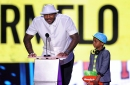 Carmelo Anthony said his son wanted him to play for the Thunder