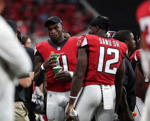 Falcons injury updates: Courtney Upshaw, Mohamed Sanu return to practice