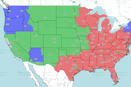 Denver Broncos at Los Angeles Chargers Week 7: TV broadcast map (CBS)