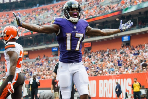 """Ravens WR Mike Wallace, """"It's like a bone bruise. It should be fine for Sunday"""""""