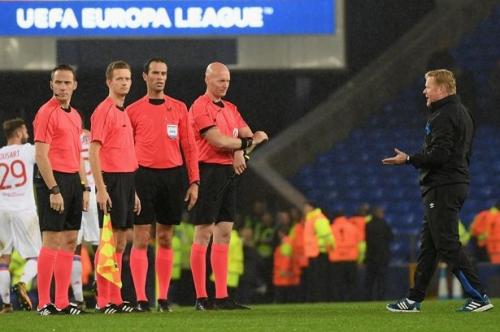 Koeman blames referee for Everton frustrations during Lyon defeat