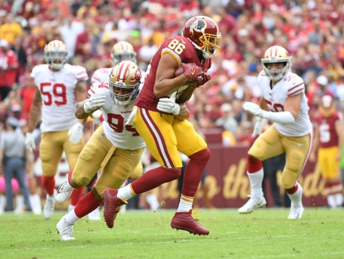 Thursday's takeaways: Jordan Reed isn't 100 percent yet while Rob Kelley returns to practice