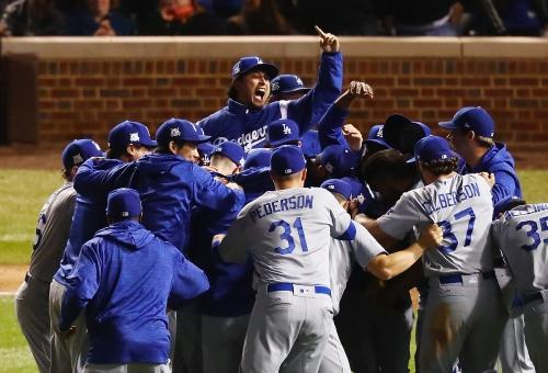 Dodgers beat Cubs to reach World Series