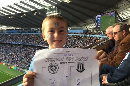 Young Man City fan unbelievably predicts City's score vs Stoke