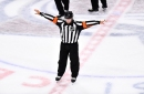 So, about that offside review in the Avalanche/Blues game