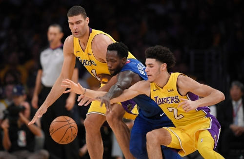 Clippers' Patrick Beverley gives rude welcome to Lakers rookie Lonzo Ball