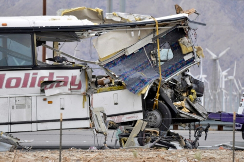 Palm Springs-area bus crash that killed 13 appears to be fault of both drivers, traffic accident reconstructionist says