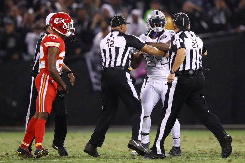 Raiders' Marshawn Lynch suspended 1 game for shoving official