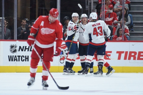 Red Wings Can't Hang On, Lose 4-3 Overtime Thriller to Washington Capitals