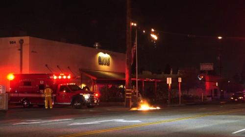 Firefighters knock down 3-alarm industrial fire in Orange