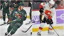 Friends as youths, Luke Kunin of Wild, Matthew Tkachuk of Flames reunite in NHL