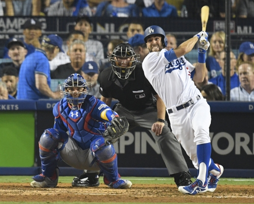 Dodgers' Chris Taylor found perfect place to take big swing on himself