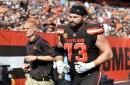 Browns tackle Joe Thomas injured, misses first play in 11-year NFL career