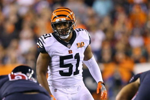 Bengals lose Kevin Minter to significant elbow injury vs Steelers