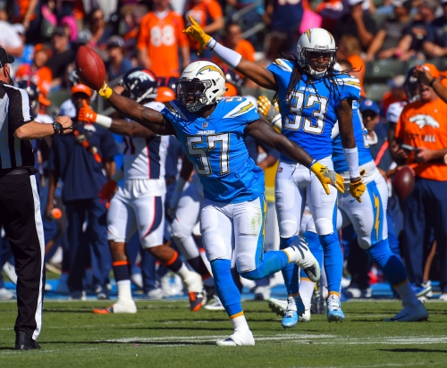 Chargers win third straight with 21-0 victory over Denver Broncos