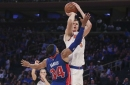 Taking a look at Kristaps Porzingis' offense versus the Detroit Pistons