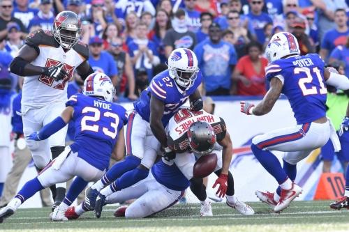 Buffalo Bills vs Tampa Bay Buccaneers Game Balls