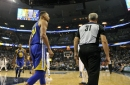 Steph Curry fined, but not suspended for throwing mouthpiece