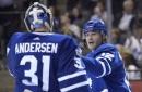 Andersen makes 36 saves as Maple Leafs top Kings 3-2 (Oct 23, 2017)