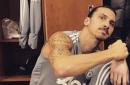 Manchester United striker Zlatan Ibrahimovic sends update from Carrington training complex