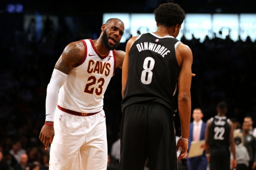 NETS RIDE DINWIDDIE AND TAKE DOWN LEBRON AND CAVS, 112-107