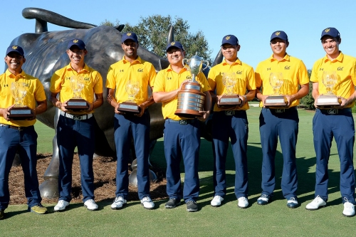 Golden Medals: Cal M. Golf wins 2 straight tournaments, M. Crew set course record in Boston