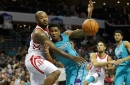 Hornets can't overcome a barrage of 3's, fall to the Rockets 109-93