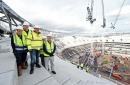 NFL Commissioner Goodell visits Tottenham stadium site