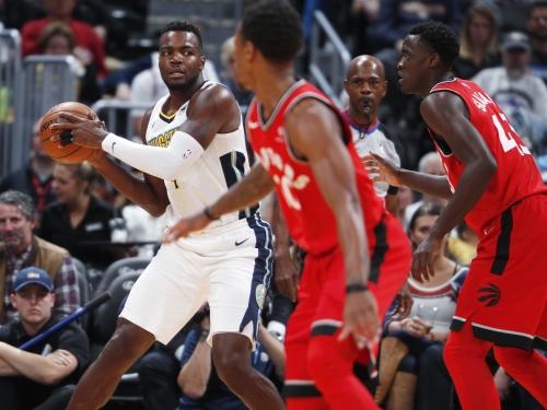 Denver Nuggets roll Toronto Raptors in return home